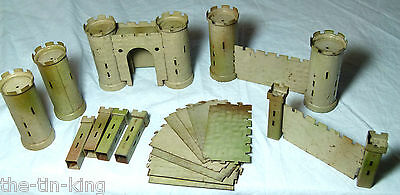 Scarce Vintage Tin Plate Toy Castle Crescent Toys Fortress