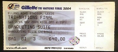 Gillette Tri Nations Final Ticket 2004 - With Stubs Intact