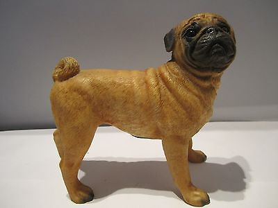 Pug dog figure  Castagna standing model hand made & hand painted in Italy new