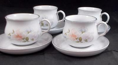 Denby ENCORE 4 Cup & Saucer Sets GREAT CONDITION