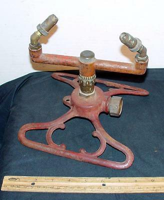 Antique Cast Iron Whirly Lawn Sprinkler Patent 1929 Steininger !