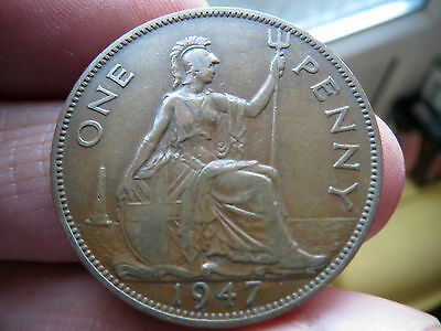 1947 One Penny George Vi th