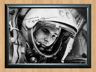 Yuri Gagarin First Man in Space Memorabilia Signed Autographed A4 Print Photo