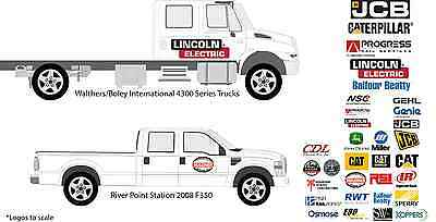 Walthers Scene Master Boley River Point Station RPS Service Truck Door Decals