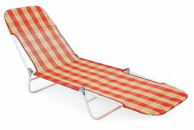 Essential Garden Fabric Chaise Lounge Chair Patio Camping Sun Beach Pool NEW!