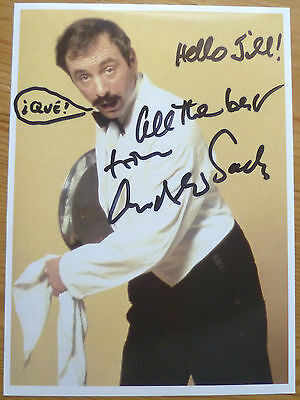 Andrew Sachs SIGNED Photo - Fawlty Towers Autograph - Manuel - RARE
