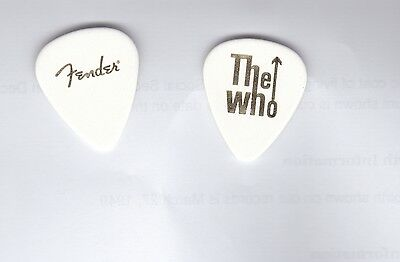 The Who 2015 Band Tour Stage Played Guitar Pick-RARE Gold Stamped-50th Anniv