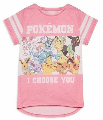 "Primark Girls Pokemon Go ""i Choose You"" T Shirt T Top Tee Uk Ages 7 - 13"