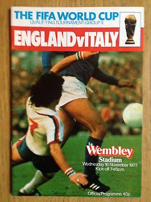 England v Italy 1977/78 World Cup programme