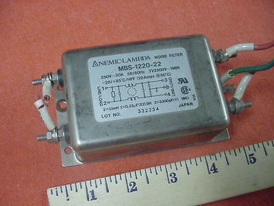 Nemic-Lambda MBS-1220-22 Noise Filter  Free Shipping!