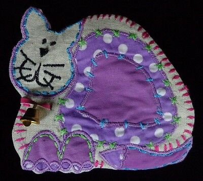 Purple Cat Coin Purse Zippered ~ FREE SHIPPING
