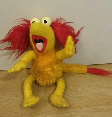 Vintage 1984 Red Fraggle Rock Soft Toy Approx 16 Inches Tall