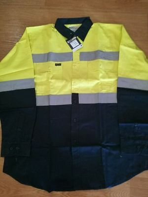 Hi vis long sleeve shirt from Industril work force size XL