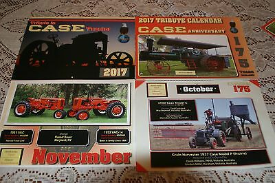 TWO.. ..Case Tractor Calendar's 2017, Anniversary and Regular.. ... 2 calendars