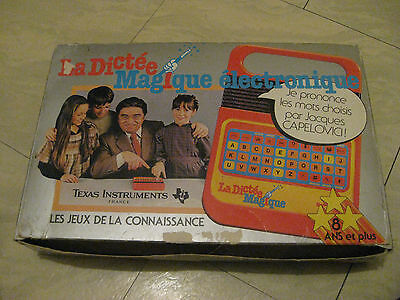 Texas Instruments 1978 , 1980 Speak And Spell Working ( French ) -Cib-