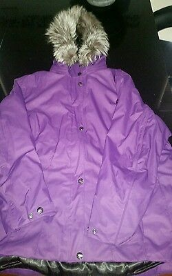 Womens Purple Snow Jacket - Size US18 (Snowboarding, skiing)