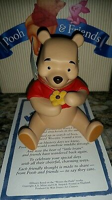 "Disney Winnie the Pooh ""A petal for your thoughts"" figurine NIB"