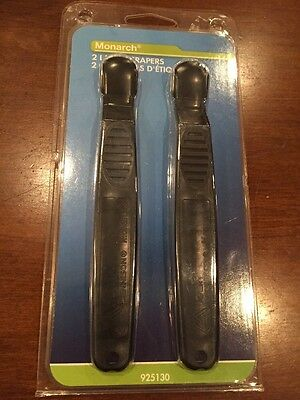 2 Pack Monarch Plastic Label Scrapers 925130 - NEW in Retail Packaging