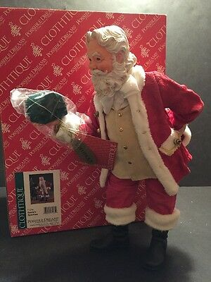 Clothtique Possible Dreams SANTA SPARKLES Ring Holder 2005 Christmas RETIRED