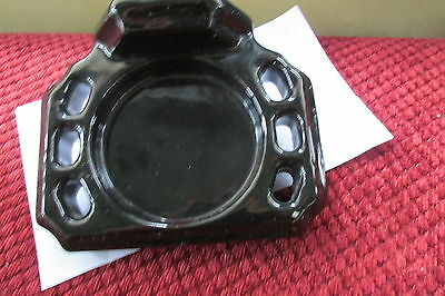 Vintage Black Ceramic Tile Wall Mount Toothbrush cup Holder Used