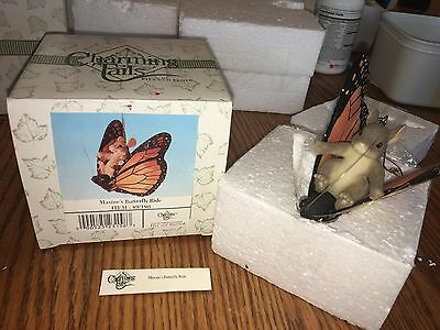 """Charming Tails """"MAXINE'S BUTTERFLY RIDE"""" SIGNED BY DEAN GRIFF  FITZ AND FLOYD"""
