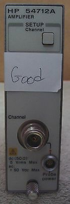 HP AGILENT 54712A 1.1 GHz SINGLE CHANNEL AMPLIFIER PLUG IN! TESTED AND WORKS!