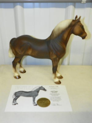 Peter Stone TRUFFLES Artisan Hall Glossy Standing Drafter Draft Horse LE 063/200