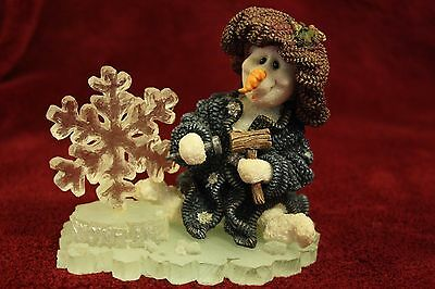 "Boyds Bear ""Flakey...Ice Sculptor"" Snowman Wee Folkstone Collection"