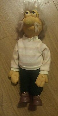Fraggle Rock - Bendy Uncle Travelling Matt Vintage 12 Inches Tall 1980's Rare