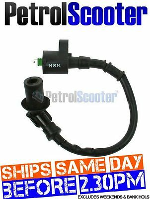 Ignition Coil 49cc 50cc Chinese Taiwanese Scooter Fits Spark Plug HT Lead Loom