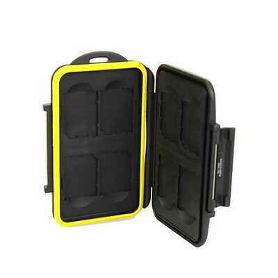 JJC NEW Waterproof Holder Anti-shock Storage Memory Card Case For MC-SD8 8X SD
