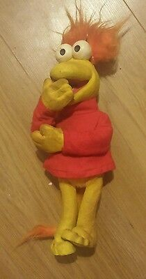 Vintage Red Bendy Toy Approx 12 Inches Tall Jim Henson Fraggle Rock 1980's Rare