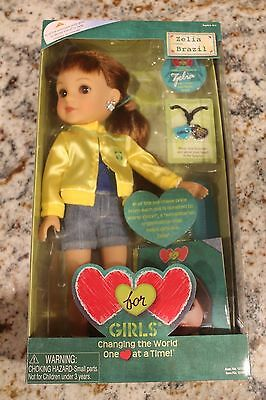 Zelia from Brazil Hearts For Hearts Girls Doll RARE NIB Playmates - Original
