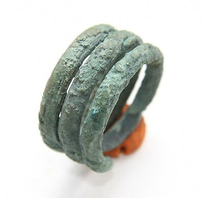 Ancient Old Viking Bronze Spiral Ring (SEP01)