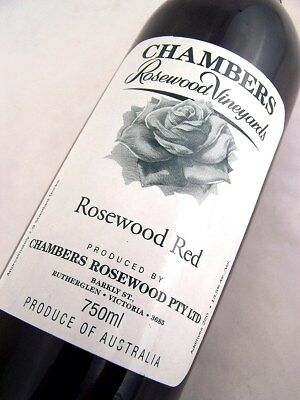 2002 circa NV CHAMBERS Rosewood Winery Red Isle of Wine