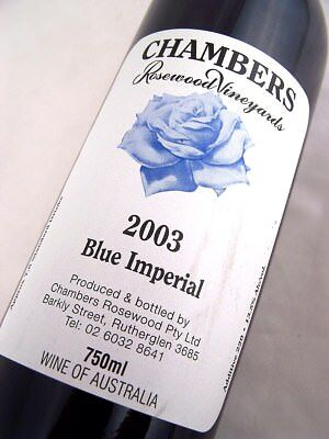 2003 CHAMBERS Rosewood Winery Blue Imperial Cinsault Isle of Wine