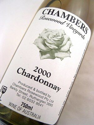 2000 CHAMBERS Rosewood Winery Chardonnay A Isle of Wine