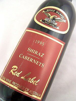 1995 WOLF BLASS Red Label Shiraz Cabernet Isle of Wine