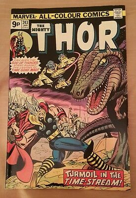 Marvel comic The Mighty Thor. January 1976. #243. Stan Lee.
