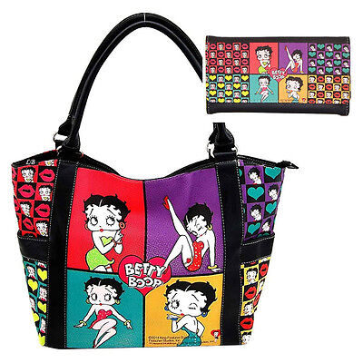 Licensed Betty Boop Set Shopper Bag with Wallet
