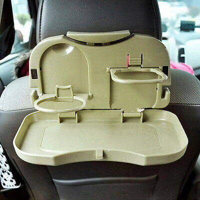 Foldable Car Back Seat Table Tray Stand Food Cup Drink Bottle Rack Holder BS