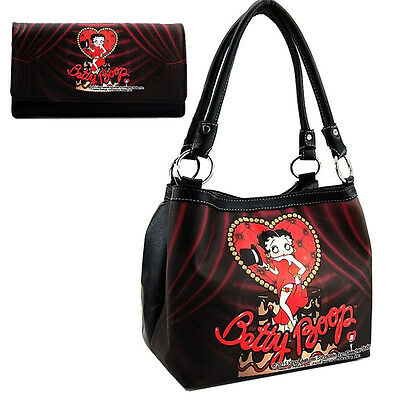 Betty Boop Lava Cake Set Tote Purse with Wallet.