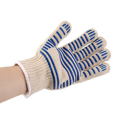 Heat Proof Resistant Cooking Kitchen Oven Mitt Glove For 540F Hot Surface BS