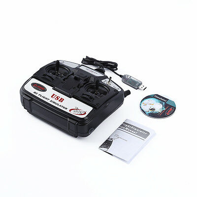 New 6CH channel USB 3D RC Helicopter helikopter Airplane Flight Simulator hot PB