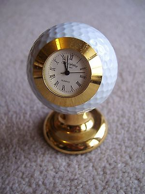 Desktop Golf Ball clock by Widdop, attractive design, needs new battery