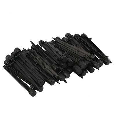50 pcs Bubbler Drip Irrigation Adjustable Emitters Stake Water Dripper BS