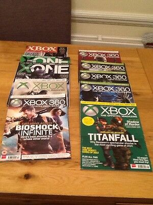 Job Lot of 10 Official Xbox & Xbox One Gaming Magazines
