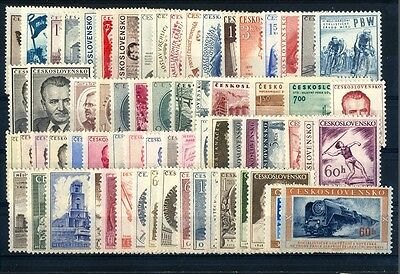 Czechoslovakia CSR,stamps complet year 1953** unused ,perfeckt, MNH