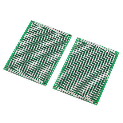 New Double Side Prototype PCB Tinned Green Universal Breadboard 5x7cm BS