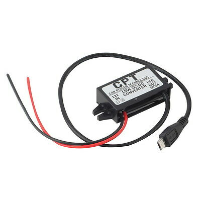Car Charger Dc Converter Module 12V To 5V 3A 15W With Micro Usb Cable New BS
